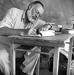 Ernest Hemingway, released to the public domain from the JF Kennedy Presidential Library