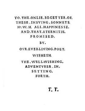 Shakespeare's Sonnets dedication
