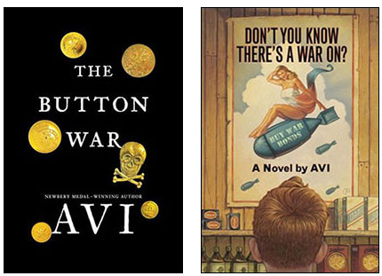 The Button War and Don't You Know There's a War On book covers