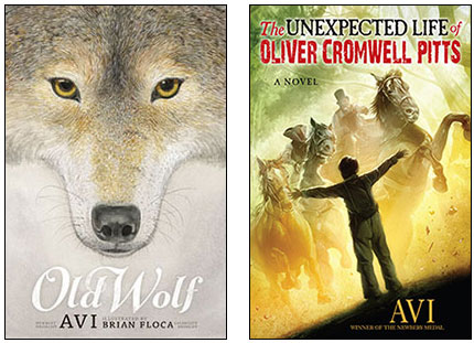 Old Wolf and Oliver Cromwell Pitts book covers